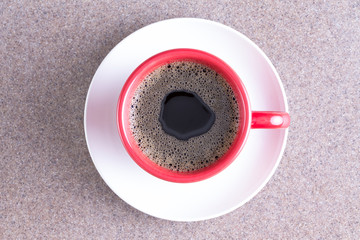 Cup of fresh energising black coffee