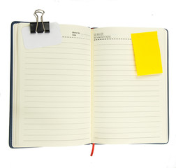 blank notepad with notepaper on white