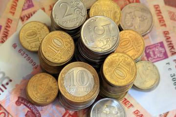 Российские рубли, банкноты и монеты
