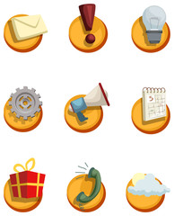 playful colorful set of icons