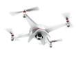 Leinwanddruck Bild - White quadrocopter
