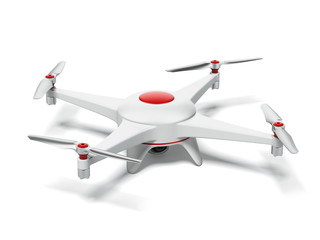 White and red quadrocopter