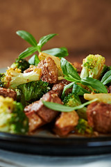 Duck and Broccoli Stir-Fry (with soy sauce and sesame oil)