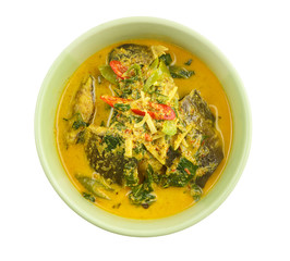 Thai food - Curry with catfish and tree basil