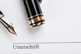 macro closeup sign document contract pen filler poster