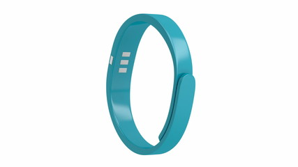 Fitness tracker spin on white background