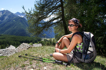 hiking in Aosta Valley - Italy