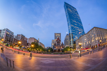 Copley Square in Boston, Massachusetts, USA