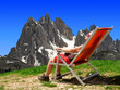 Girl in the Sexten Dolomites - Italy