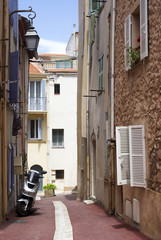 The street of old Cannes, French Riviera