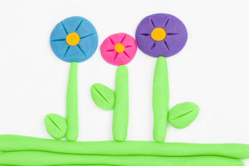 Plasticine flower.