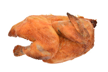 Roast Chicken on Isolated Background
