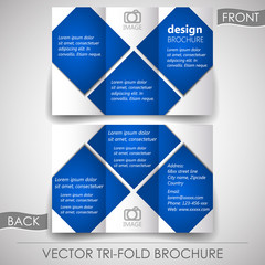 Tri-fold corporate business store brochure, cover design