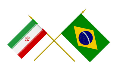 Flags, Iran and Brazil
