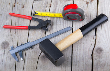 builder Tools on old wood