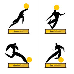 Football Best Player Award in Flat Icon design