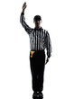 american football referee gestures silhouette