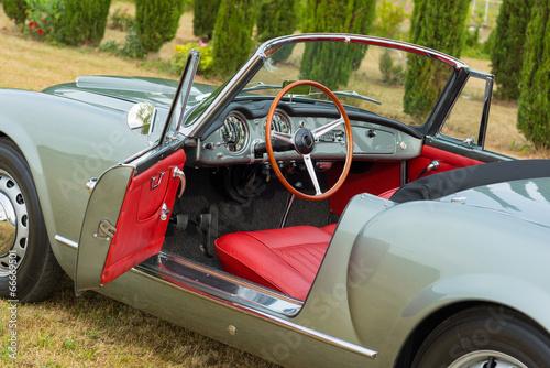Foto op Canvas Vintage cars seltenes oldtimer cabriolet 3