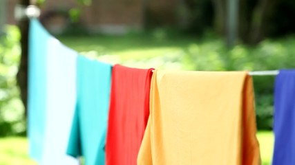 Laundry hanging in garden