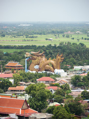 Big dragon, landmark in Suphanburi Thailand