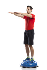 squat exercise on ball