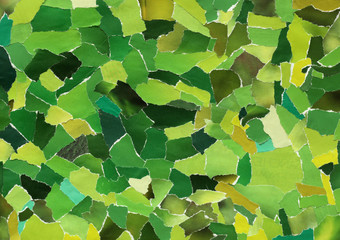Green texture of torn paper