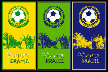 Set of Brazilian football posters.