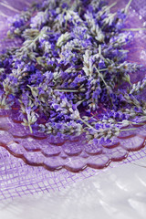 Presentation of lavender flower