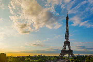 Eiffel Tower at sunshine. Paris, France.