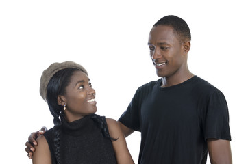 Young african couple