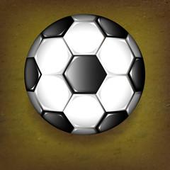 balon de futbol 3d sobre tierra