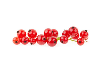 Red currant isolated on white.