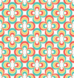 Vintage 80s abstract seamless pattern. Vector design poster