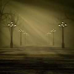 Light in the fog.