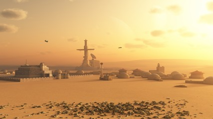 Martian Desert Colony