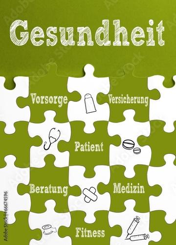 canvas print picture Thema: Gesundheit / Puzzle