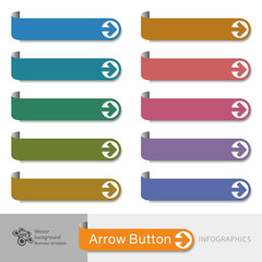 Infographic Vector Arrow Button