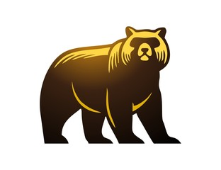 bear logo,modern media business,wild mammal