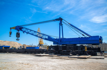 Railroad Crane in port