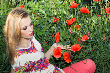 girl in poppy
