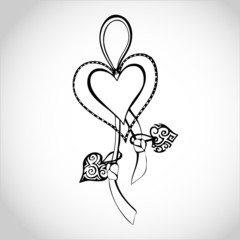 Heart decoration illustration