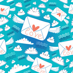 pattern envelopes love