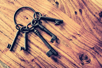 old fashioned door keys