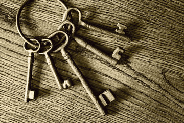 old iron keys