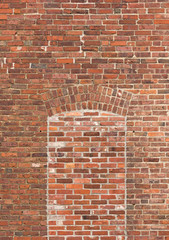 Brick wall with bricked window