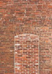 Brick wall with bricked window