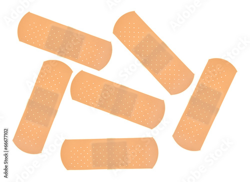 Group of sticky bandages