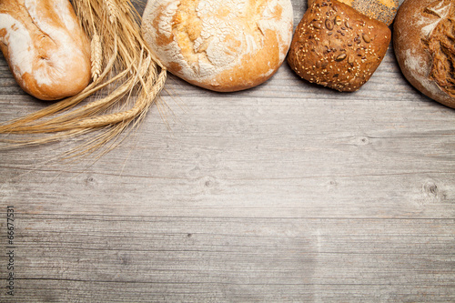 Foto op Canvas Brood brot textfreiraum