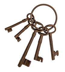 old keys isolated