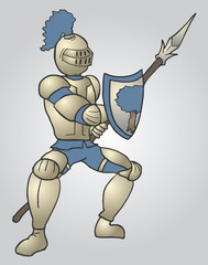 Medieval warrior draw